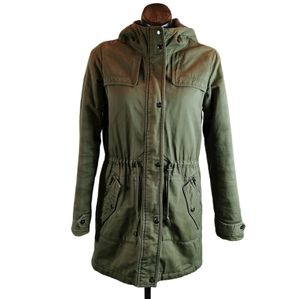 Vero Moda 3/4 Length Parka Jacket Green SZ Small